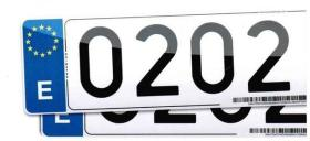 Placas de matricula 100-PE