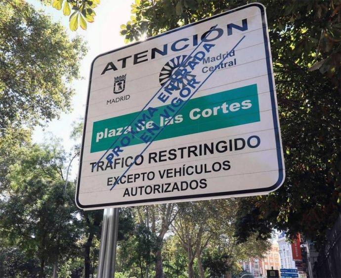 Los vehículos sin etiqueta medioambiental podrán entrar a Madrid Central si van a un taller